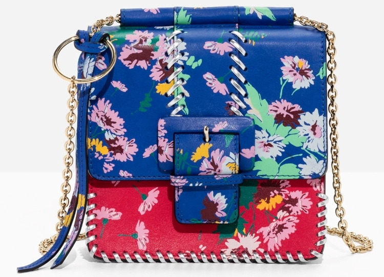 The floral trend this year is bold and bright.  Whilst an apparel look may not be for everyone, you can have lots of fun with accessories.  I adore this bag and will styling it with a simple white shirt dress, a straw hat and some pom pom sandals come the summer.  For now pair with jeans and a bright knit.