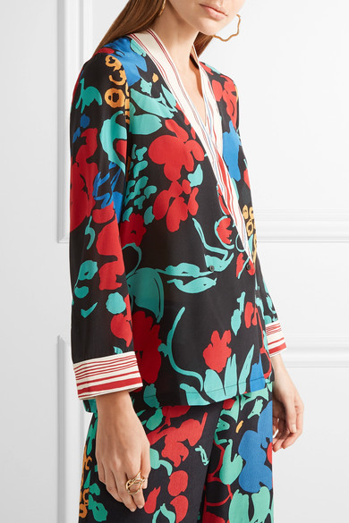 RIXO London is an uber cool vintage inspired print label I discovered last year.  Launching this season on Net a Porter their prints are both and unapologetic.  I adore this silk wrap-effect jacket.  Style with the coordinating trousers if you dare!