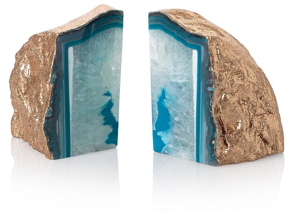 Agate Stone Book Ends £60.00