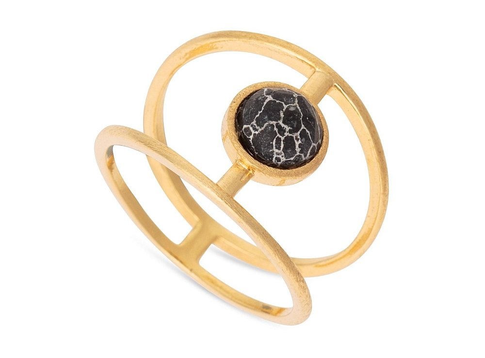 Enyo Structured Howlite Ring £18.00