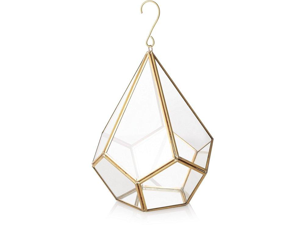 Hanging Gold & Glass Terrarium £32.00