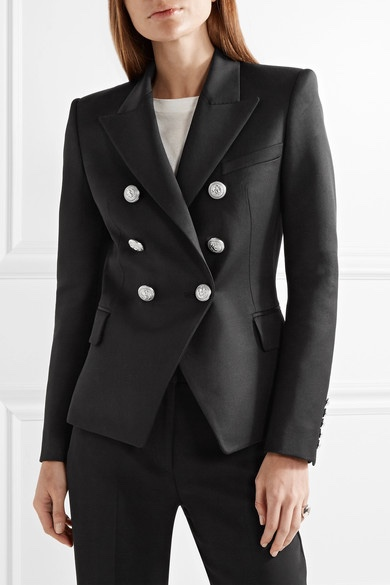 THE WISH LIST PIECE  Balmain Double Breasted Blazer £1325.00  If I were to chose a 'forever' black blazer then this is it!  When I tried this on it  sculpted my shape to perfection both done up and unbuttoned.  The fabric is beautiful and he silver hardware gives it a lovely sophistication.