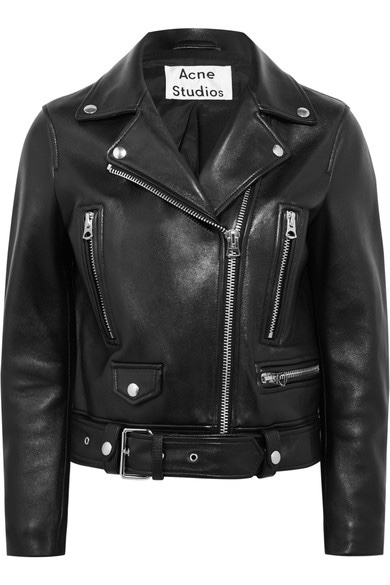 THE DREAM  Leather Biker Jacket by Acne Studios £1300.00  When I'm asked to recommend the ultimate leather jacket, Acne has been my go to.  The leather is so luxurious and buttery (as you would expect for the price) but the details make it feel super special; the polished silver hardware is of top quality, the satin lining is stunning and the fit is hard to beat.  This is not the most expensive jacket I found (Tom Ford and Saint Laurent can be three times as much) but it's my favourite by far.