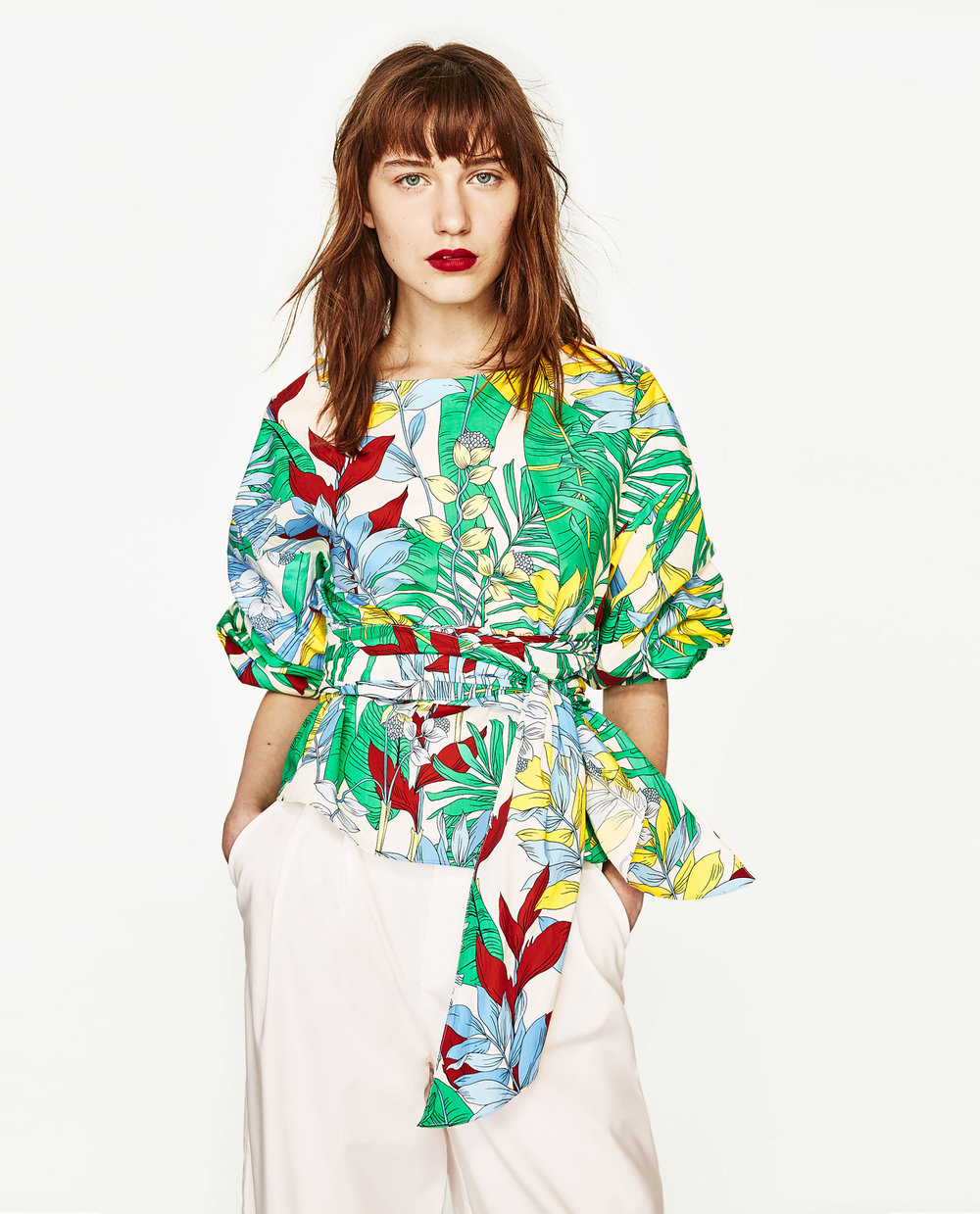 FLOWER POWER  Large print floral wrap top from Zara £39.99