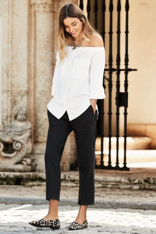 OFF SHOULDER  White Off Shoulder Shirt from Next £26.00