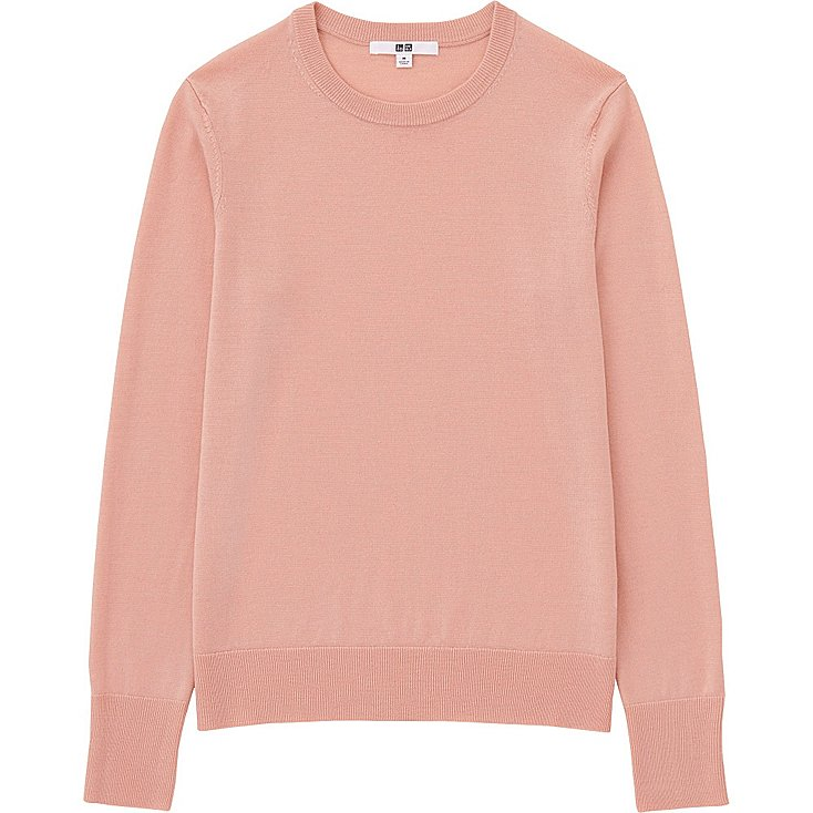THE SUMMER KNIT  Extra Fine Merino Crew Neck Sweater from Uniqlo £24.90
