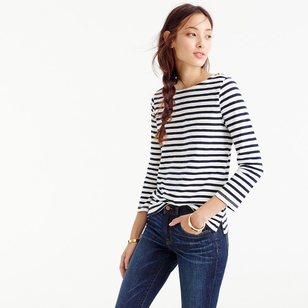 BRETON TOP  Striped Boatneck T-Shirt from  J Crew £44.50