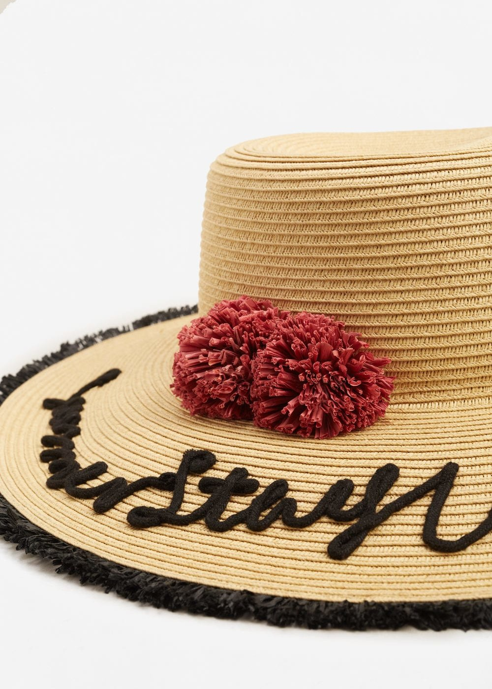 THE STRAW HAT  Straw Pamela Hat from Mango £19.99