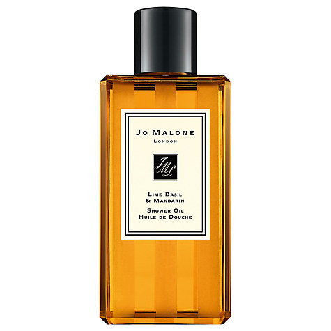 Lime Basil & Mandarin Shower Oil £32.00 250ml    A reasonably new addition to the bath and body collection, the shower oil gives you the luxurious treatment with the convenience and speed of a shower. I love using this before an evening out, especially when combined with my orange blossom cologne.