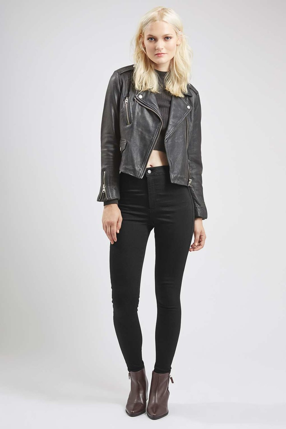 Topshop MOTO Holding Power Joni Jeans in Black £45.00 ( click to buy )
