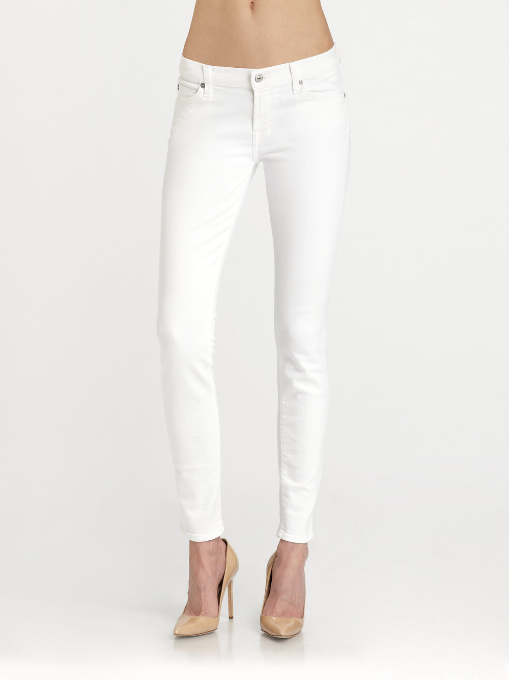 Seven for All Mankind Skinny Slim Illusion in White £180.00 ( Click to Buy )