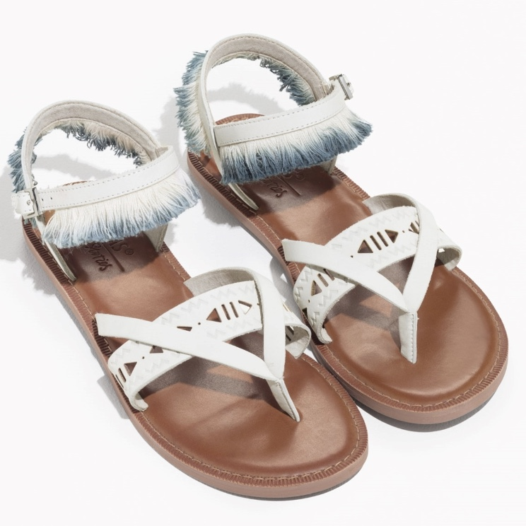 Toms Leather Fringe Lexie Sandals by & Other Stories £80.00