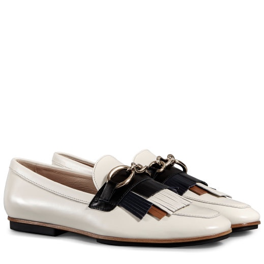 Tods Loafers in White/Black/Brown Leather £415.00