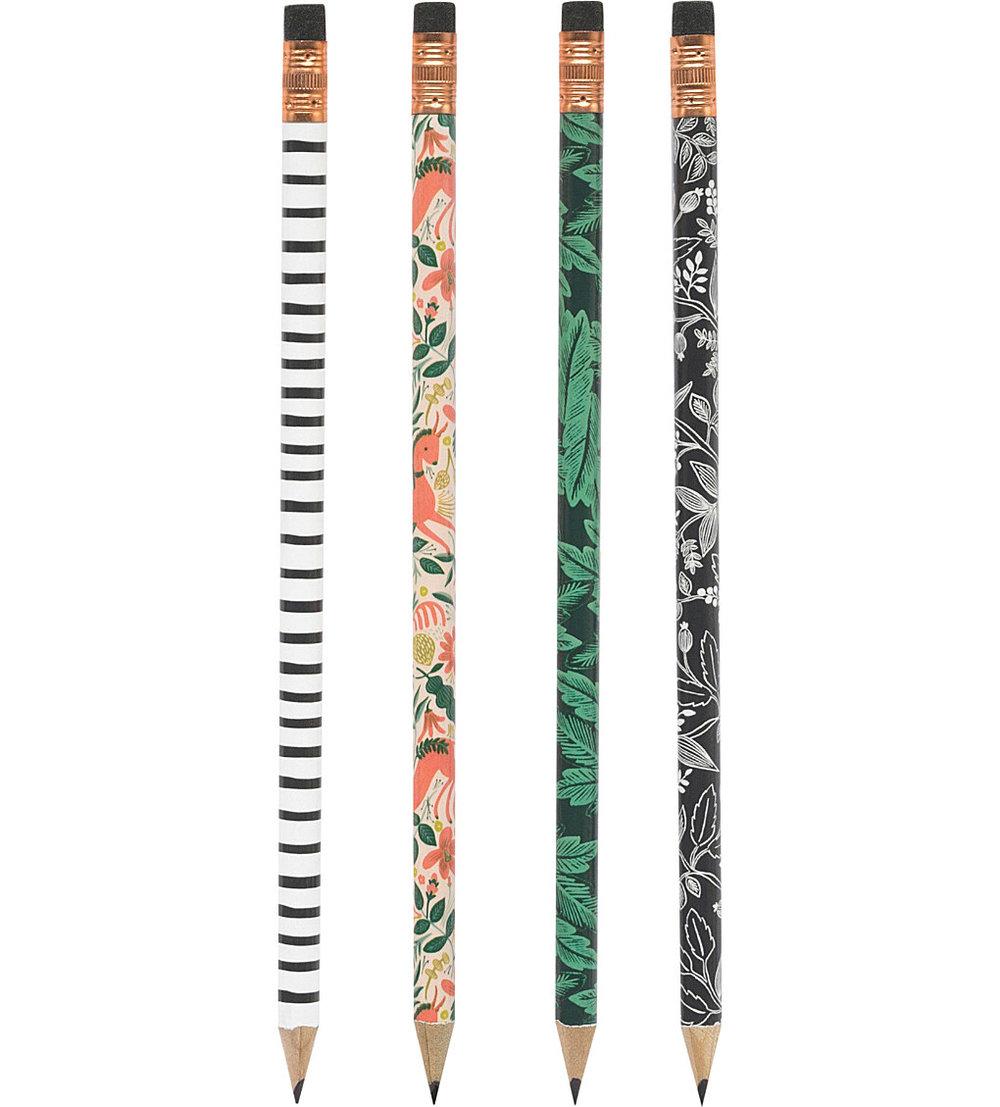 Rifle Paper Folk Set of 12 Writing Pencils £12.00 at Selfridges