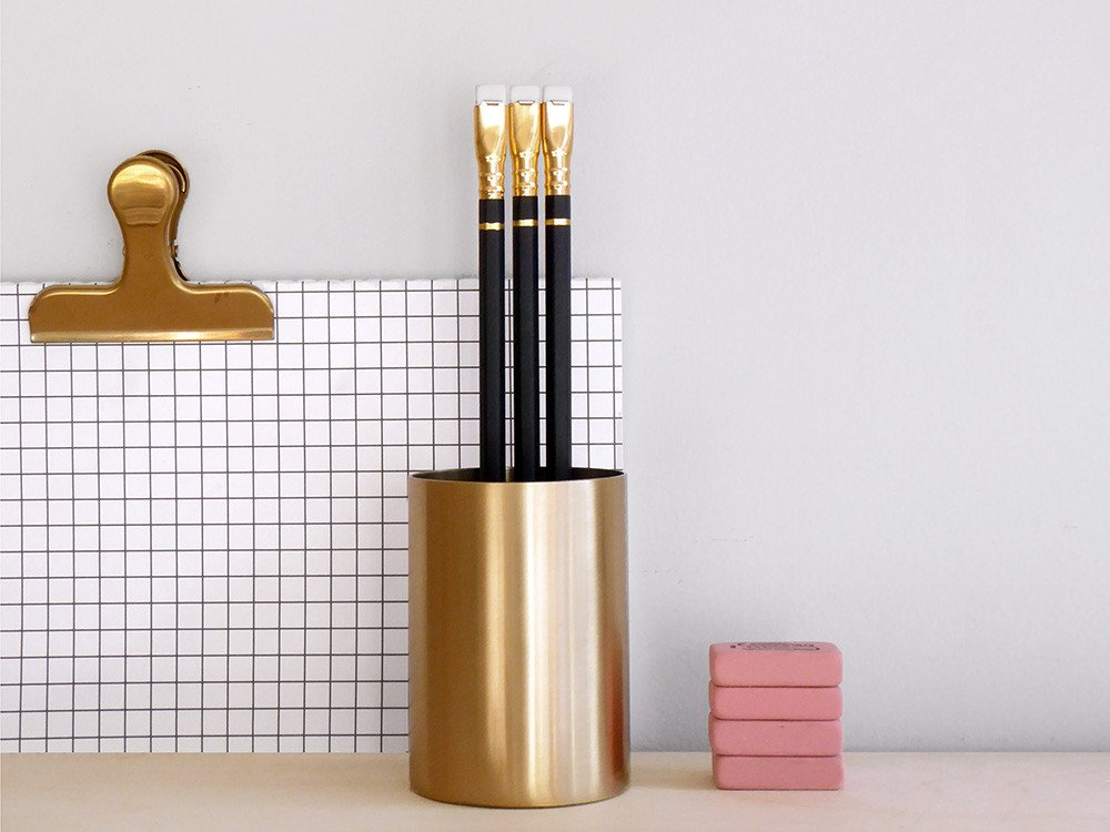 Brass Pen Pot £22.50 at Present and Correct