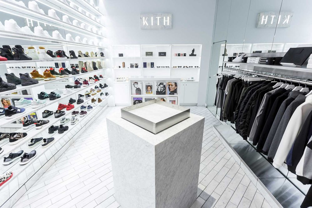 Kith (Women's Store), 64 Bleecker Street    Kith is the brainchild of Sneaker guru Ronnie Fieg who is heralded as making Asics cool and  the  guy brands want to work with on limited editions.     His NYC store Kith is generally regarded as the go to for sneakers and urban wear.  With stores in Soho and Brooklyn, the company recognised their loyal female tribe and launched their womenswear store at the end of 2015.  Alongside their signature kicks, expect to find some serious cool activewear.