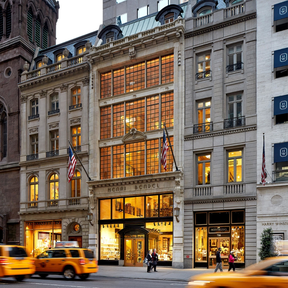 Henri Bendel, 712 5th Avenue   One of my favourite places in New York, I tend to go here every time without fail and have now amassed quite a collection of handbags, cosmetic bags and accessories.  Henri Bendel is a great accessories store filled to the brim with chic handbags, luggage, jewellery and girlie accessories.  Over the years I've acquired a large tote, a small cross body bag, a back pack, a few cosmetics bags and travel bags and they've all lasted and worn so well.  What I love most is that almost anything can be monogrammed or embroidered with your initials whilst you wait.