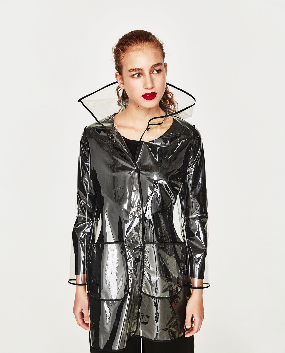 Transparent Raincoat £49.99 by TRF at Zara