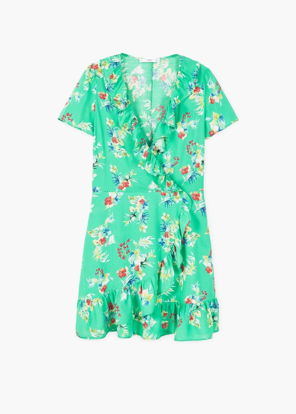 Ruffled Floral Dress £35.99 at Mango