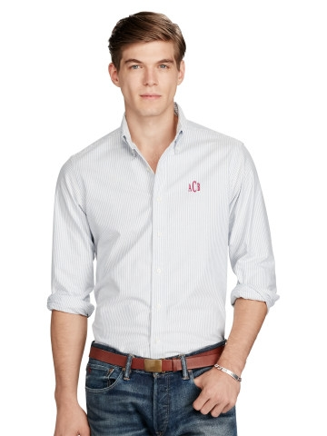 Personalised Standard Fit Cotton Shirt £95.00 at Ralph Lauren