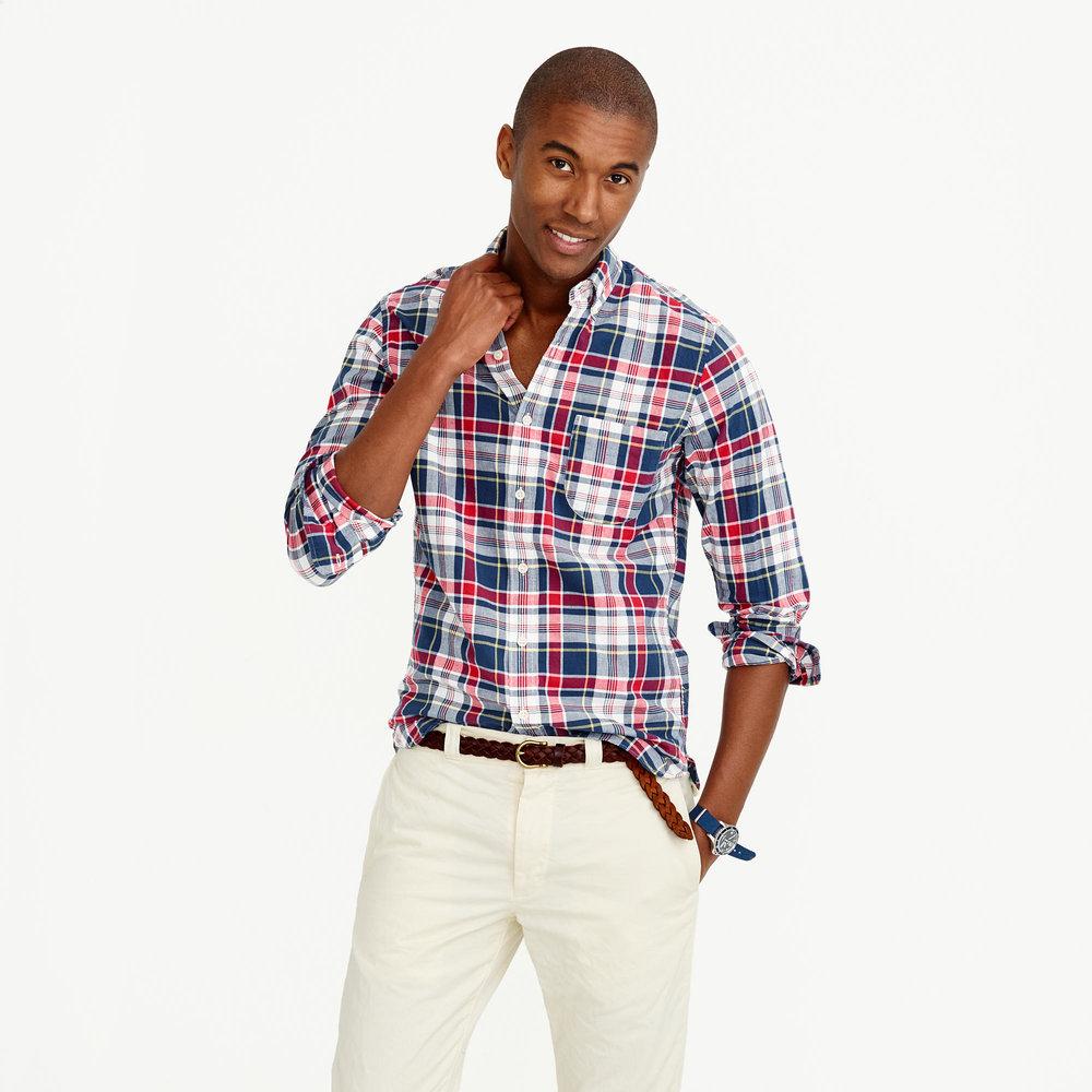 Slim Indian Madras Shirt £62.50 at J Crew