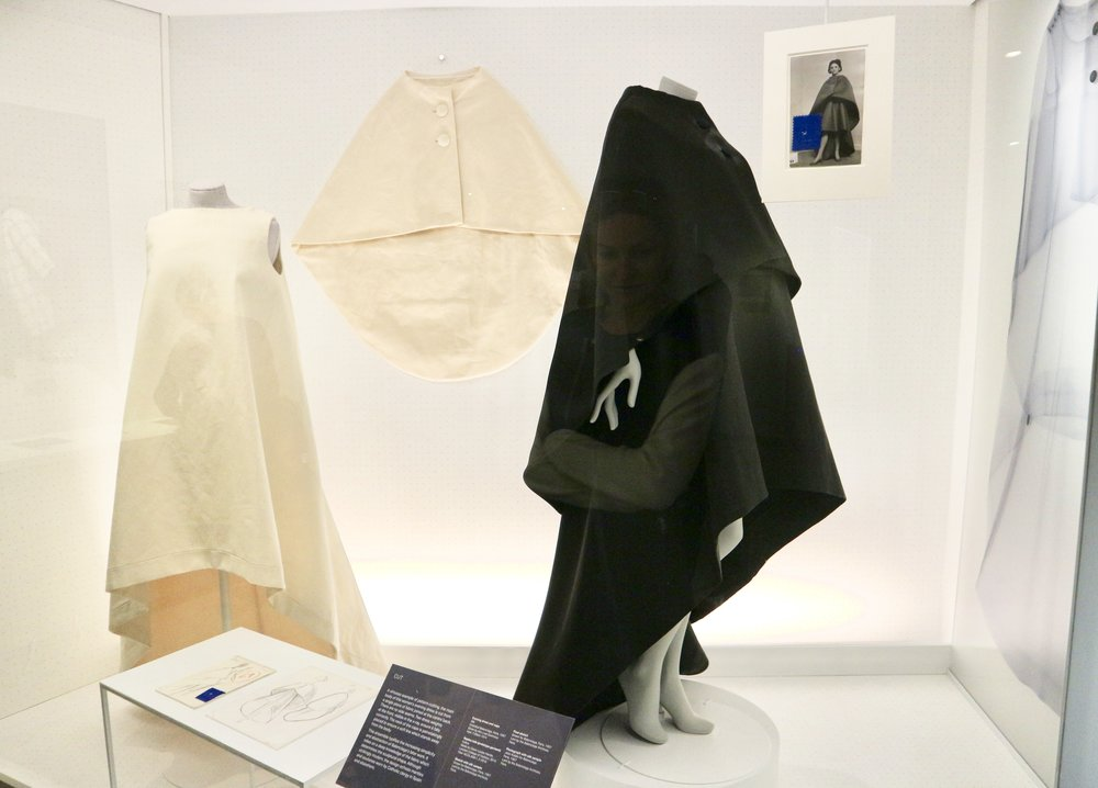 Evening Dress and Cape 1967 in Silk by Balenciaga. Calico version made by Claire Louise Hardie of London College of Fashion 2016
