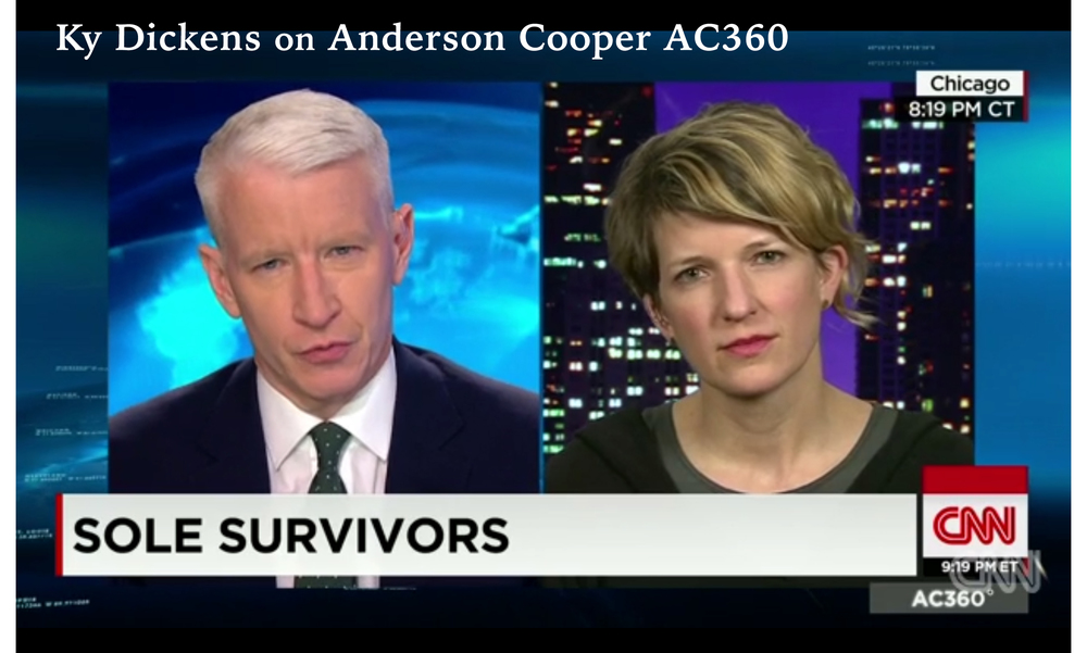 Ky Dickens being interviewed by Anderson Cooper on CNN. Watch  here