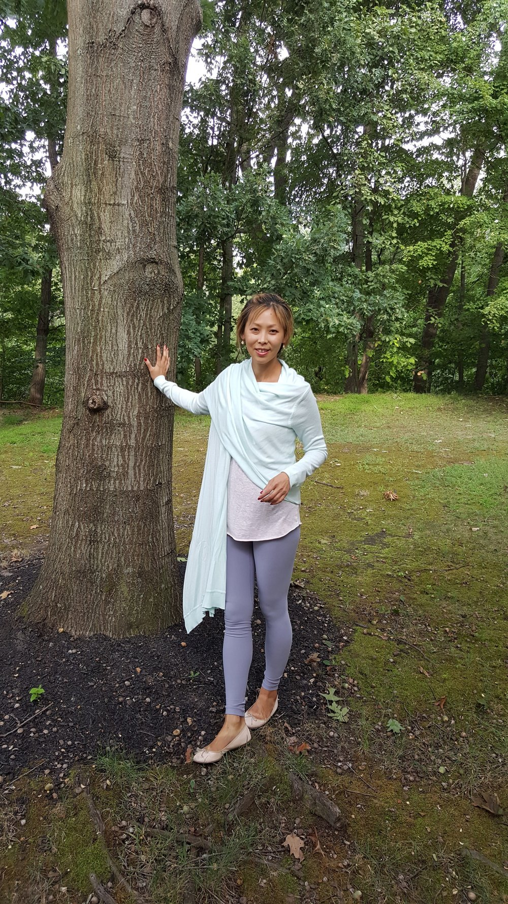 Ballet Chic - I love this long cozy wrap sweater  which comes in an array of neutral colors!-
