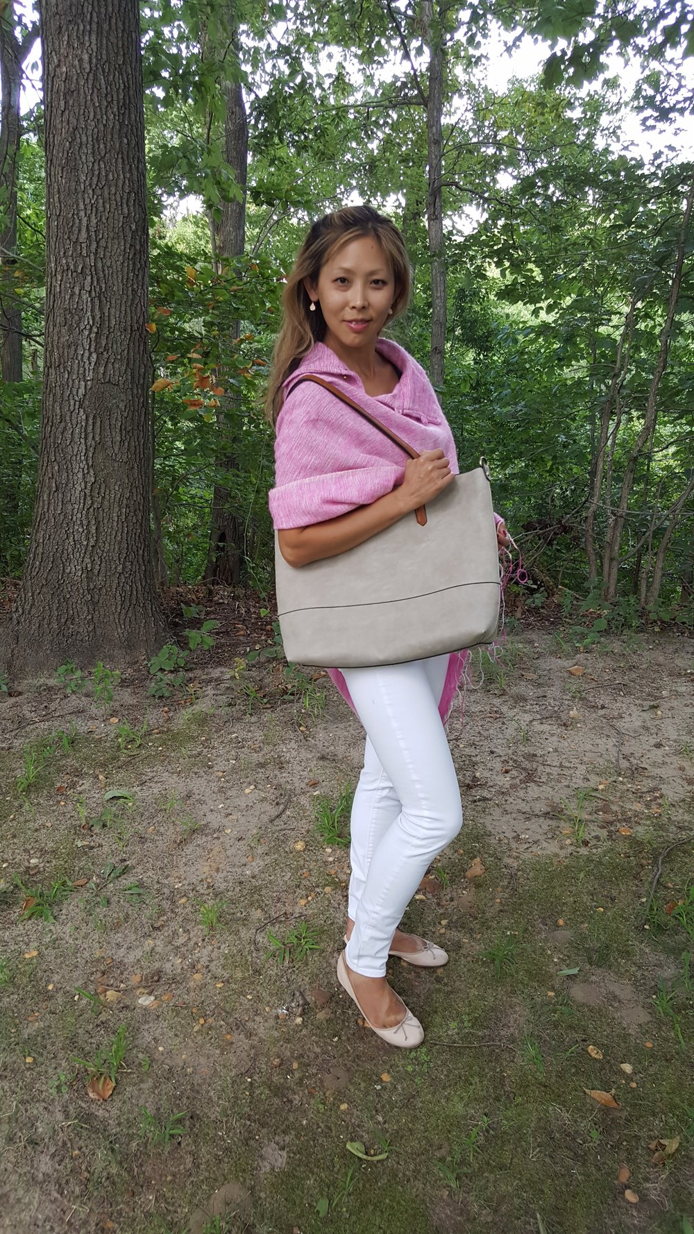 Loving my Joy Susan faux suede tote bag to carry all my fall essentials!  See other page for the Promo code!