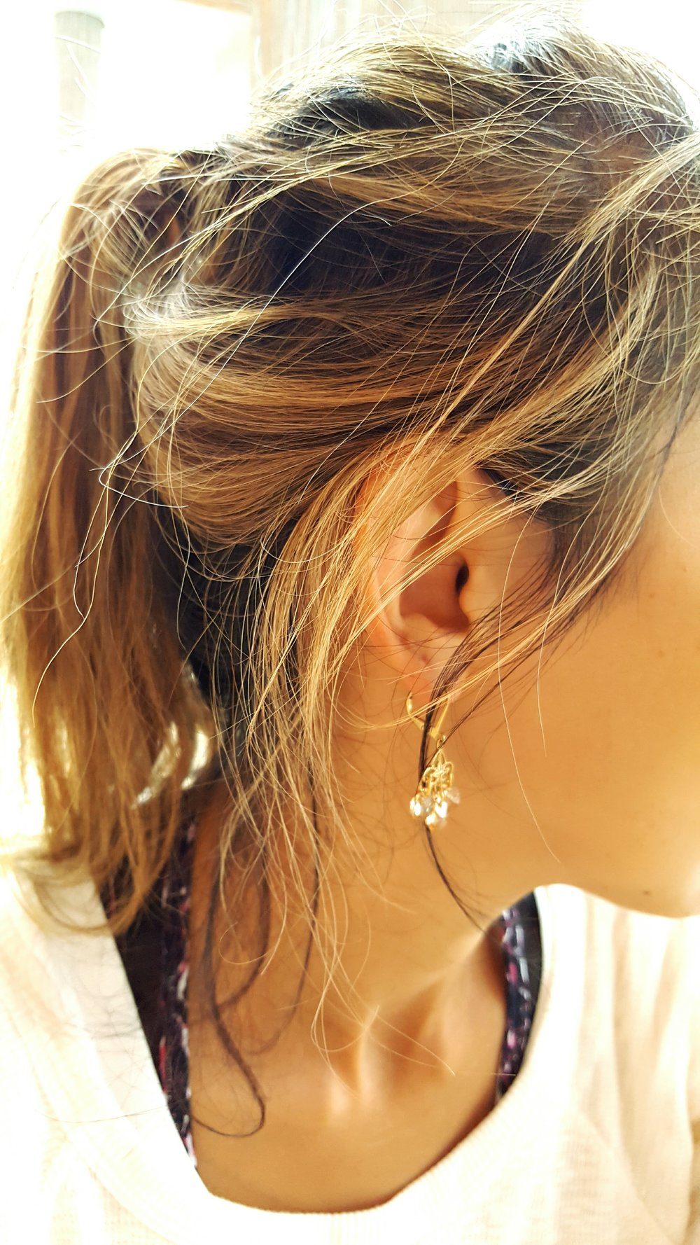 Loving these Chandelier earrings - light and dainty - from Jovi in Newport, Oregon