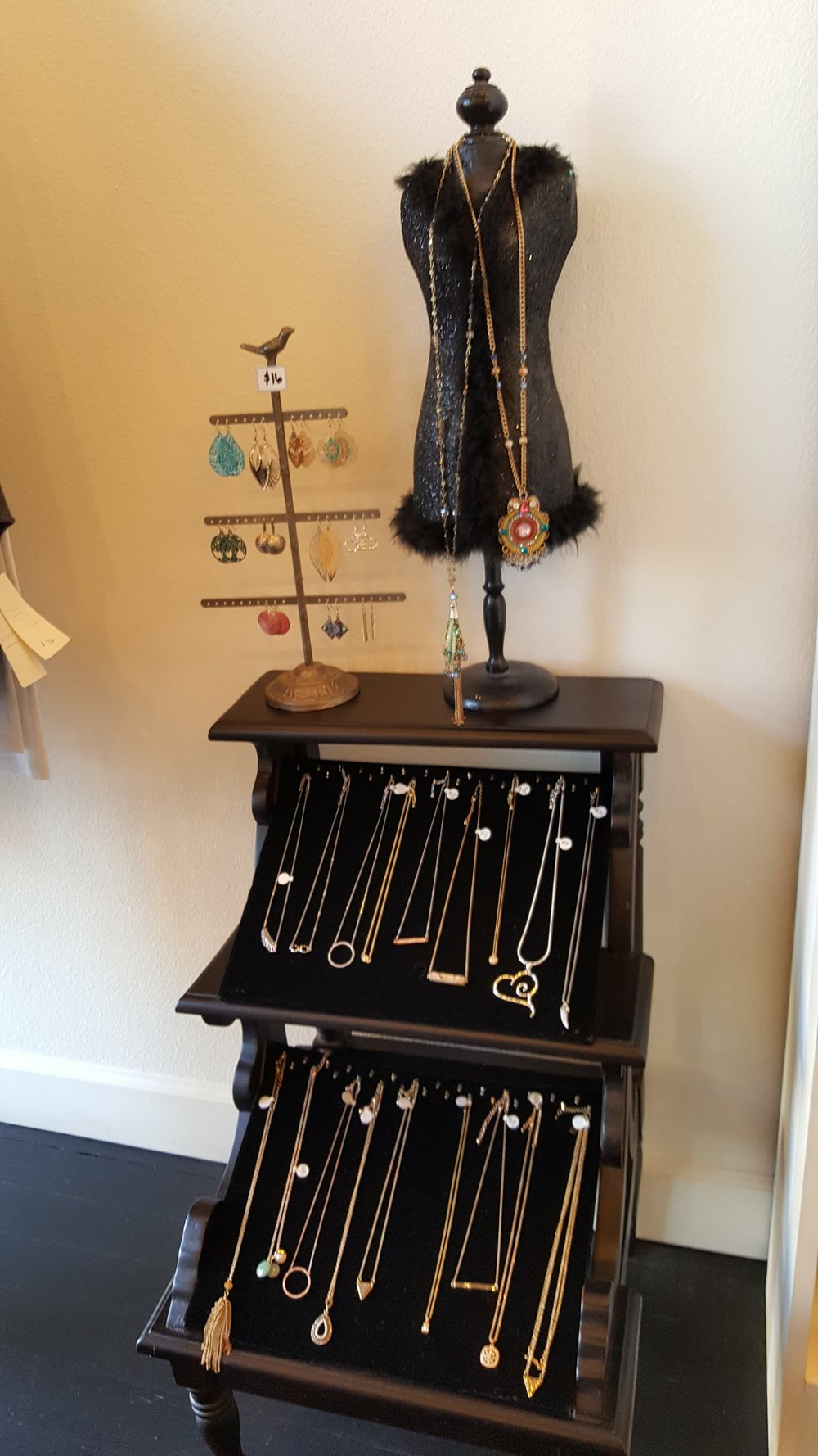 An assortment of accessories to pair back with the well-curated clothing assortment at Nikki Jane's!