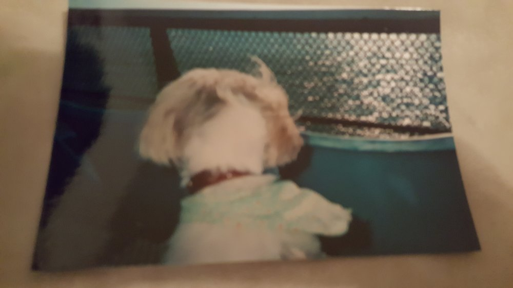 Coco on the Ferry to Block Island, maybe 2006
