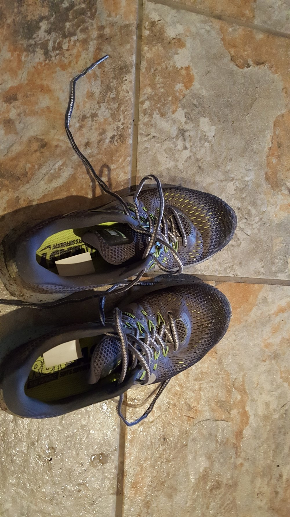 These sneakers do the work-  it's been raining for 7 days straight and they hold up during my runs
