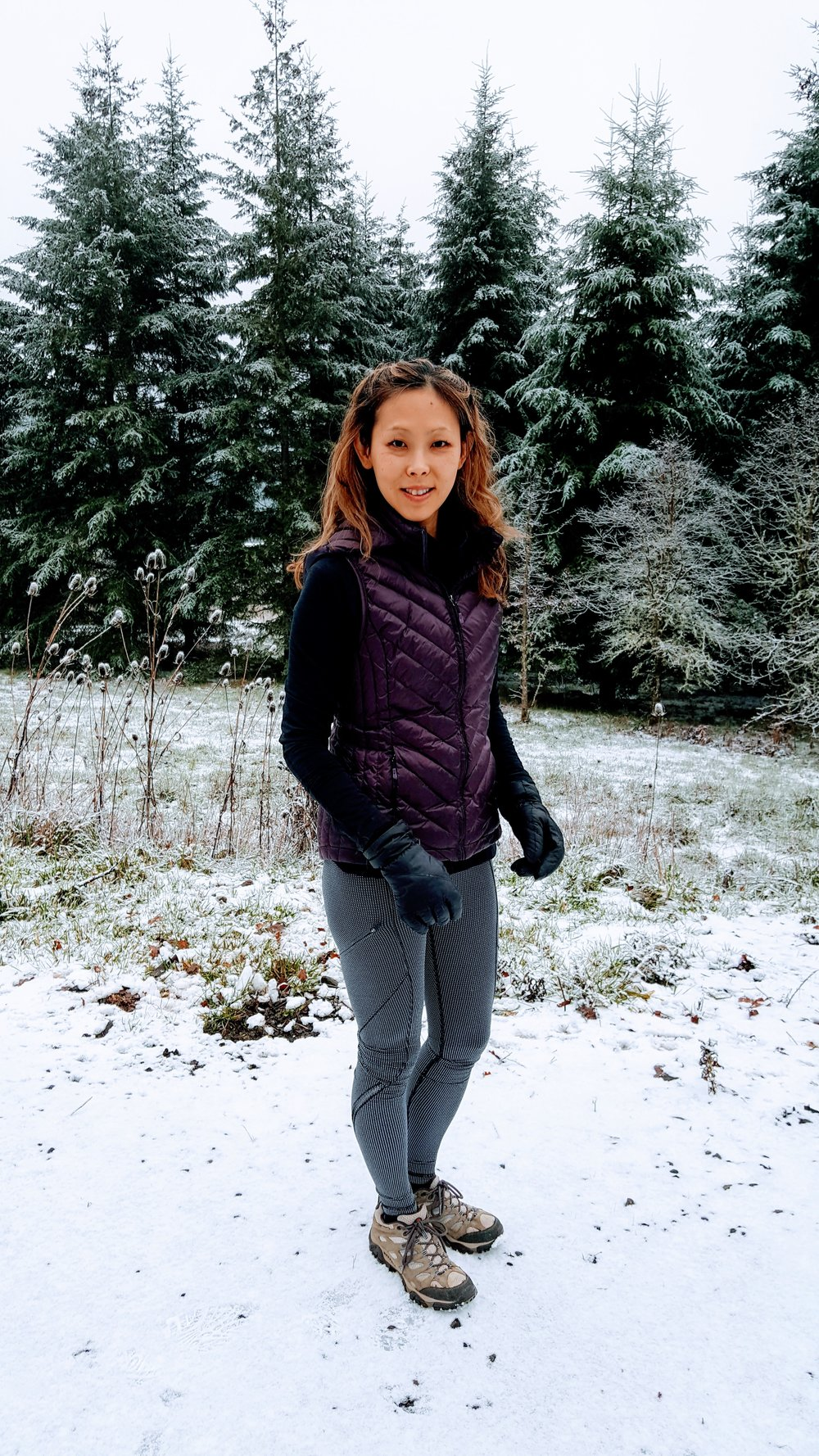 Winter running is more fun in Lululemon reflective tights!