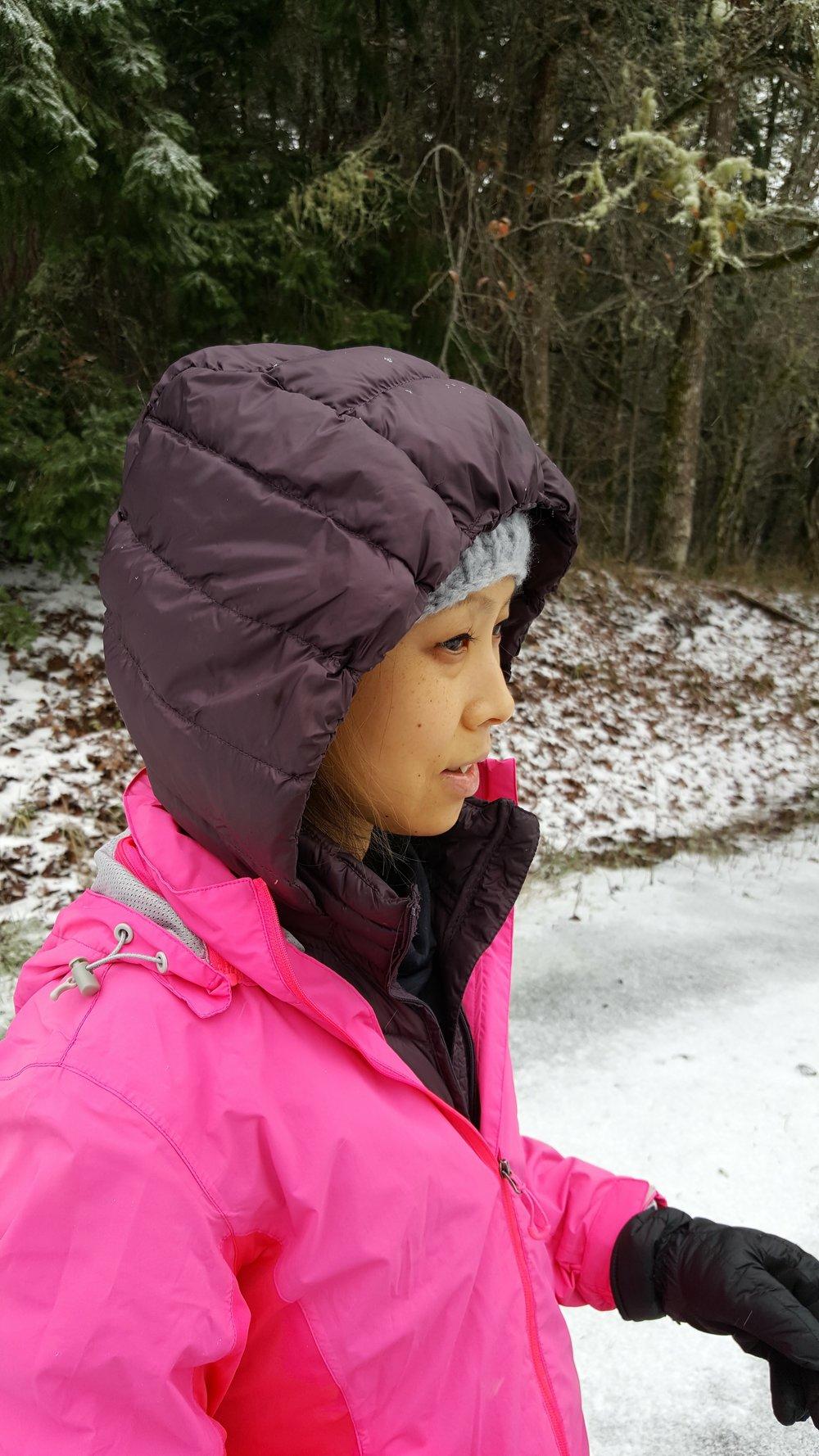 Layers keep me warm on my winter runs- Love this waterproof Road Runner Sports jacket