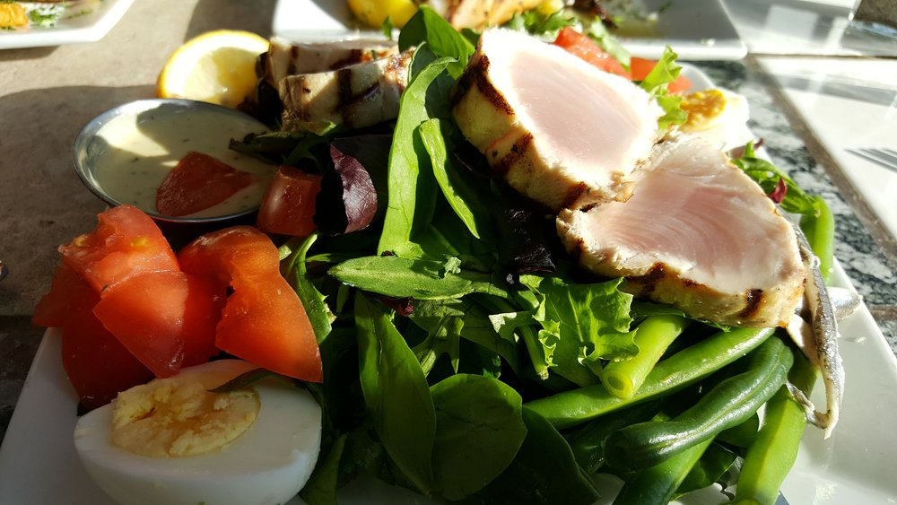My Favorite - Nicoise Salad at Local Ocean Seafood.  The boats catch the fish right across the street