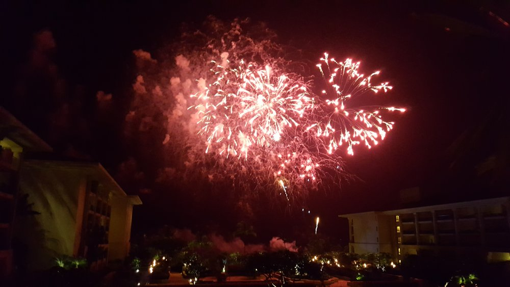 Fireworks on our last night @ the Four Seasons Maui