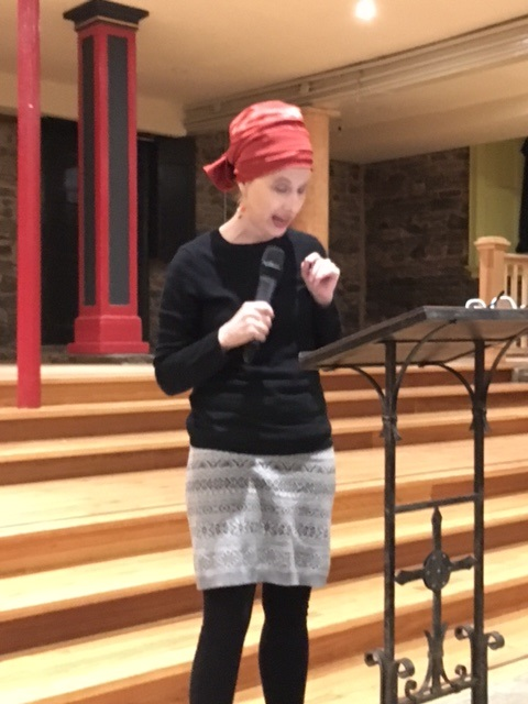 Anya Krugovoy Silver  reading at   St. Mary's Catholic Church, 440 Grand St., NYC  Jan. 20, 2018