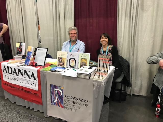 Jerry Harp visits with Cindy Veach during her book signing for  Gloved Against Blood  (CavanKerry, 2017)