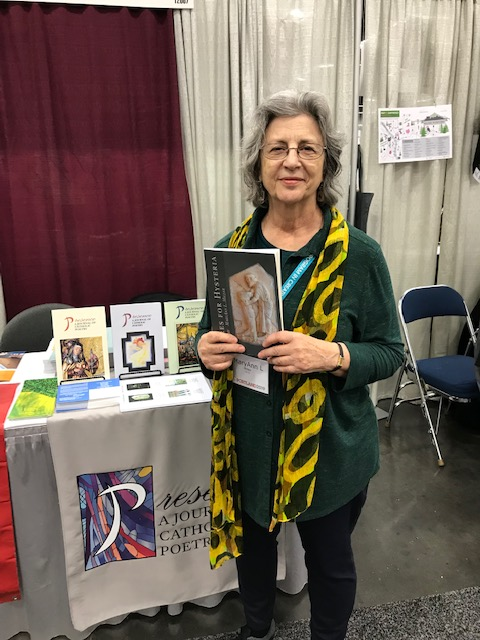 MaryAnn L. Miller during her book signing for  Cures for Hysteria  (Finishing Line, 2018)