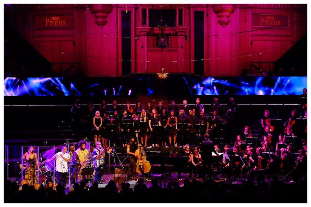Performing live in the Kamasi Washington BBC Prom at the Royal Albert Hall