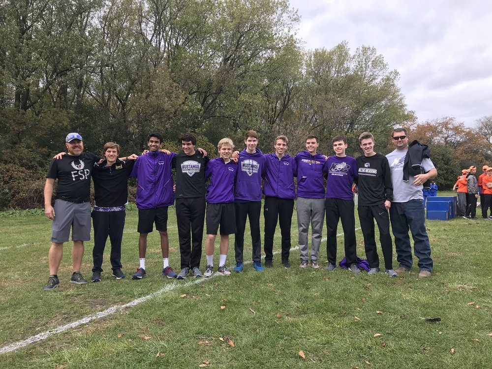 The Rolling Meadows boys cross country team qualified for the state competition for the first time in the school's 48-year history. Photos provided by the Rolling Meadows boys cross country team.