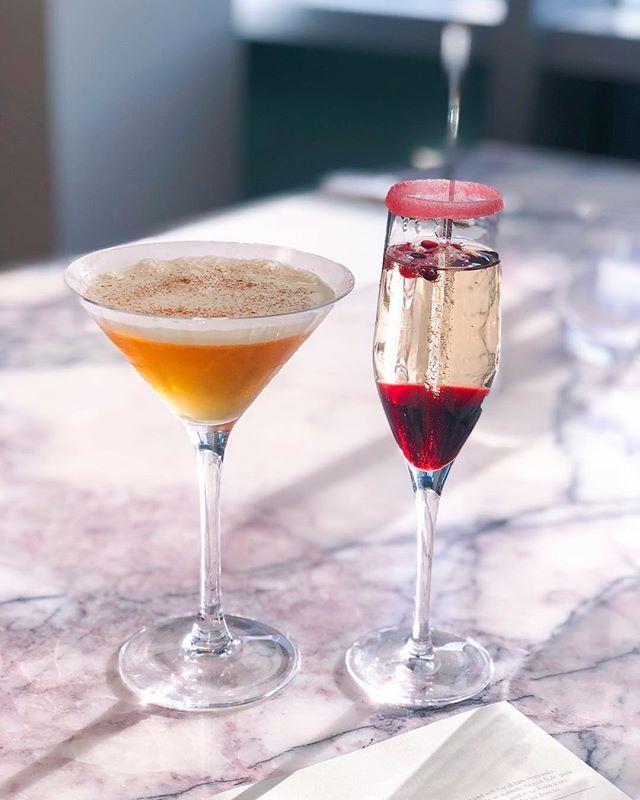 mince pie martini & pomegranate fizz 🤩