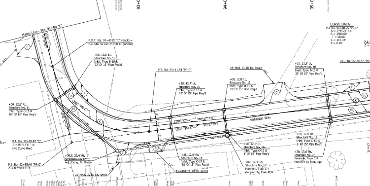 Final Construction Plans of Kirkbride Way