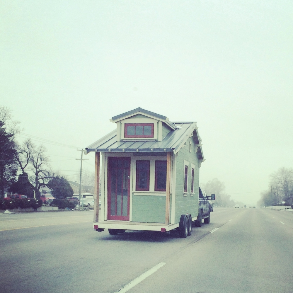 The Linden tiny house is Meg's own design. Construction was completed in 2016.