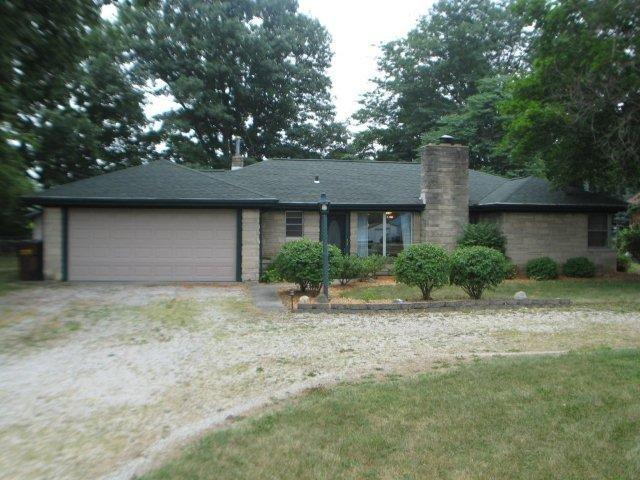 Our first house in Bluffton, Indiana. Regular 2 car garage ranch house.