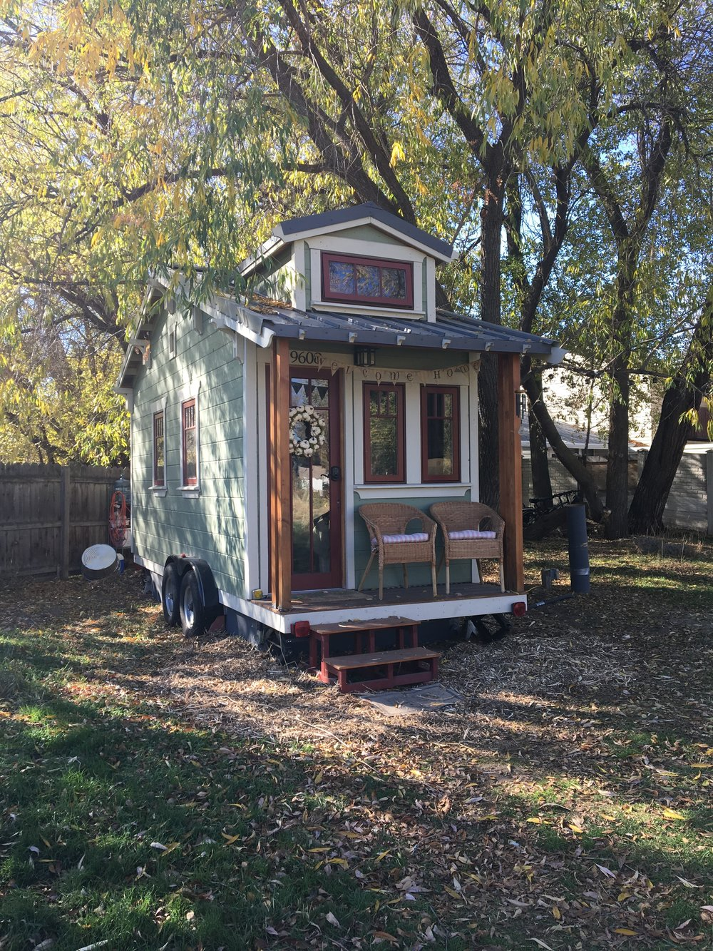 The tiny house, November 2016.