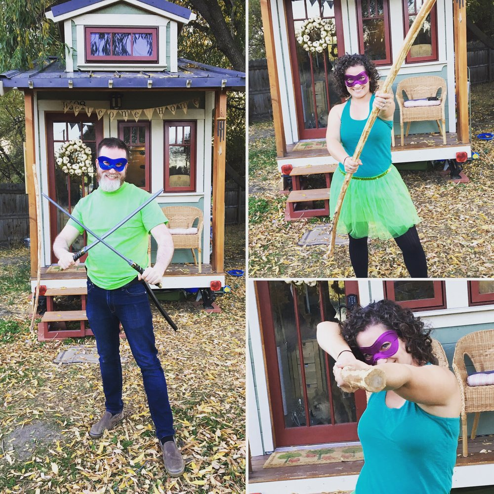 Our Halloween costumes 2016. Teenage Mutant Ninja Turtles!