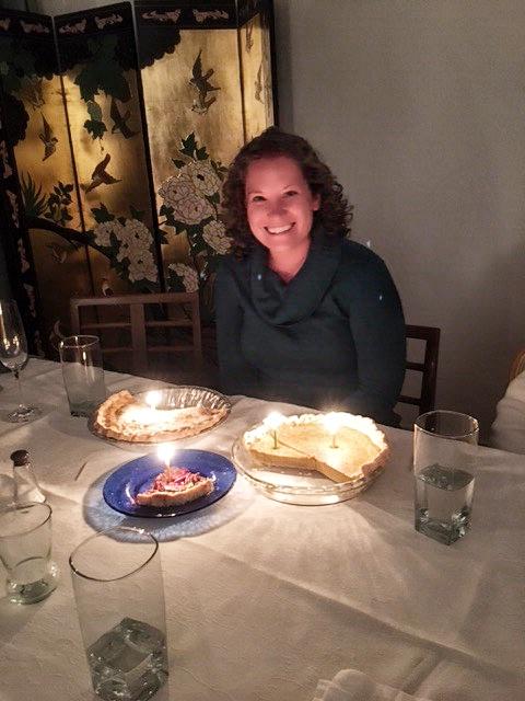 Three kinds of pie for my birthday! Yum yum!