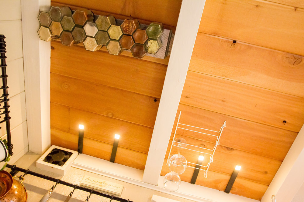 Whoa what a view! I love the natural cedar of our loft floor, which is visible between the beams of the loft support.